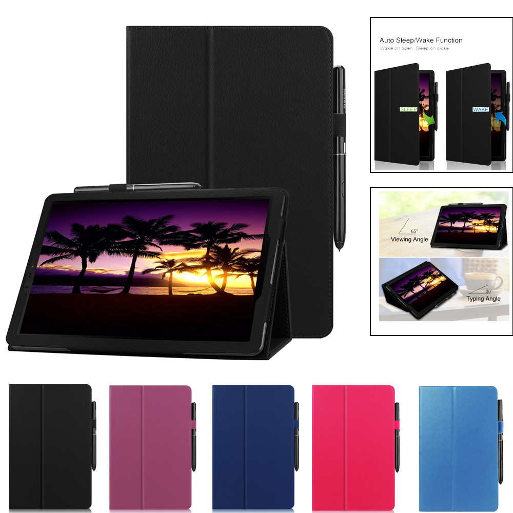 5 Colors Leather Covers For Samsung Galaxy Tab S4 10.5 T830 /T835 PU+Leather Smart Case Stand Cover USPS Dropshipping N04
