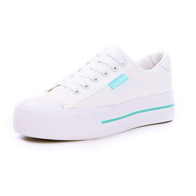 New 2016 Breathable Shoes Woman Platform Canvas Shoes Women Thick Sole Casual Shoe White Zapatos Mujer