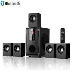 5,1 canales sistema de altavoces para cine en casa Bluetooth \ USB \ SD \ FM Radio Control Remoto táctil Panel DE SONIDO ENVOLVENTE Dolby Pro Logic