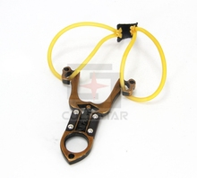 32007 Powerful Creative Metal Slingshot Shot Brace Catapult With Rubber Band For Outdoor Hunting Shooting Sports Entertainment