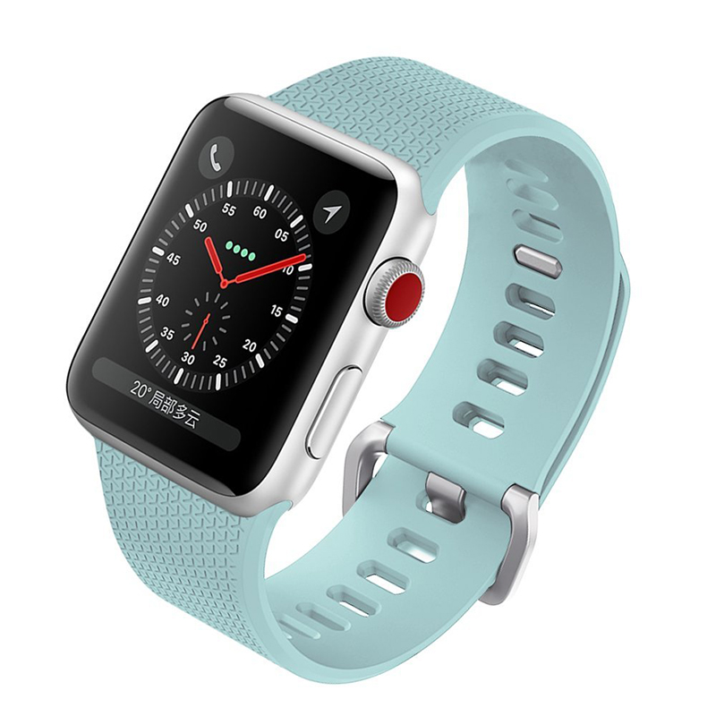 Silicone Sports Band For Apple Watch 38mm 42mm Accessory Wristband Replacement link Bracelet for iwatch Strap Series3 2 1 jansin 22mm watchband for garmin fenix 5 easy fit silicone replacement band sports silicone wristband for forerunner 935 gps