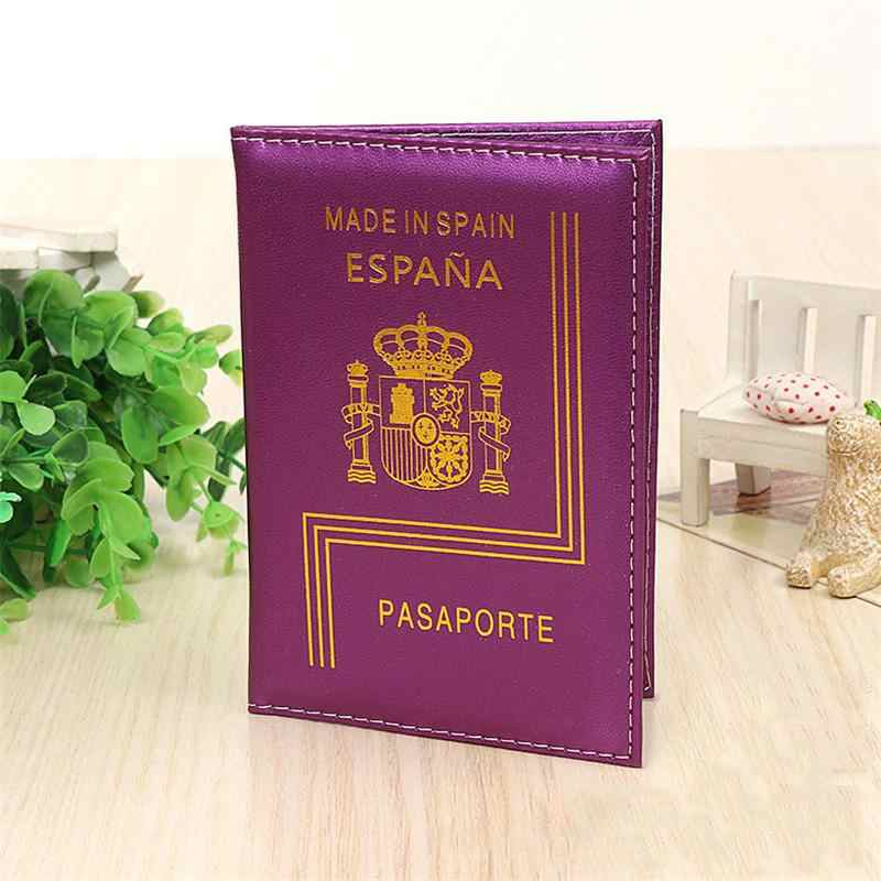 Spain Travel Women Pu Leather Case For Passport Fashion Cute Passport Holder Protection Case Espana Passport Cover High Quality