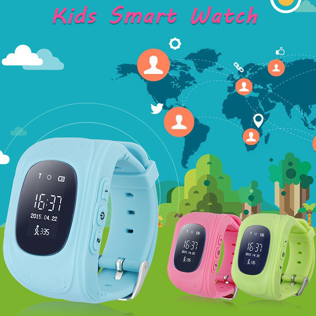 10pcs/lot,Oled HD Smart Kid Safe GPS Watch Wristwatch SOS Location Finder Locator Tracker for Baby Child Anti Lost Monitor Q50