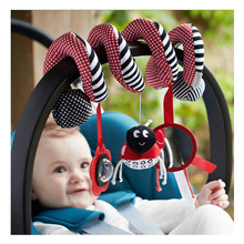 Mamas&papas Baby Toys Stroller Twine Hanging Toy Rattle Beetle Plush Safety Mirror Tape Music Hanging Bed Plush Toy