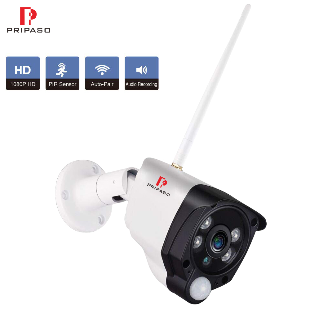 Wireless Security Camera 1080P Full HD Outdoor Weatherproof WiFi Surveillance Camera PIR Motion Sensors Night Vision