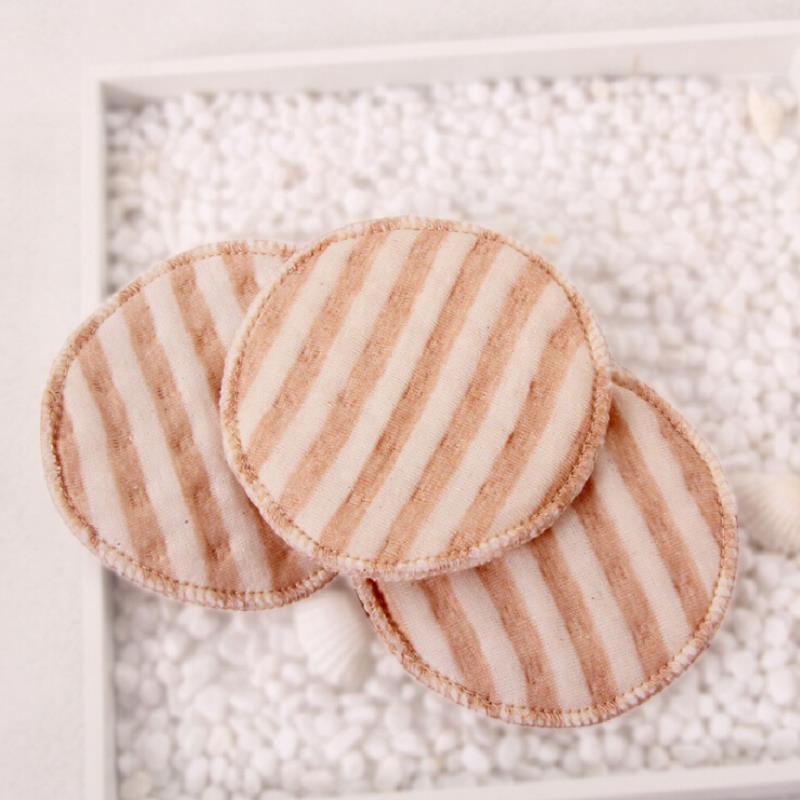 4 Pcs Cotton Reusable Breast Pads Nursing Feeding Waterproof Organic Plain Washable Pad Baby Breastfeeding Accessory