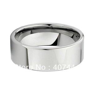 Image 2 - Envío Gratis, compra barata, gran oferta de Estados Unidos, Brasil, Rusia, 8mm, tubo de plata pulido, anillo de carburo de tungsteno cortado, banda de boda para hombres