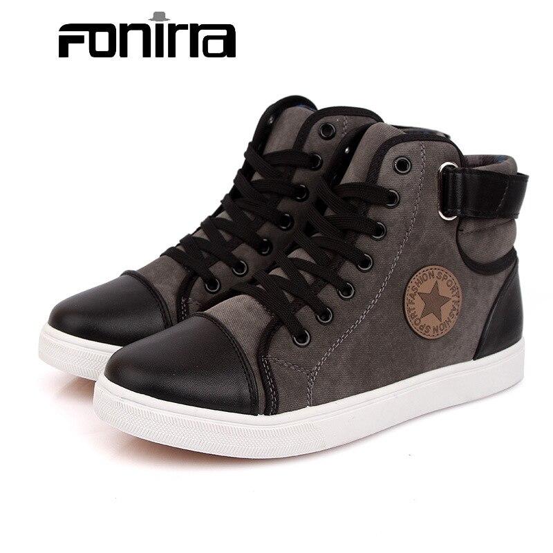 FONIRRA Fashion Men Boots Canvas Men s Shoes Large Size 39 46 British Men s Ankle