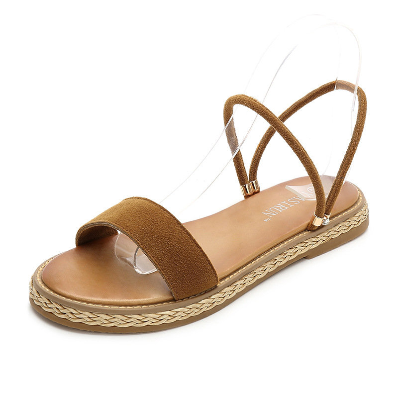 MISS VICKY 2019 new Korean version of wild sandals comfortable student female sandals in Women 39 s Sandals from Shoes
