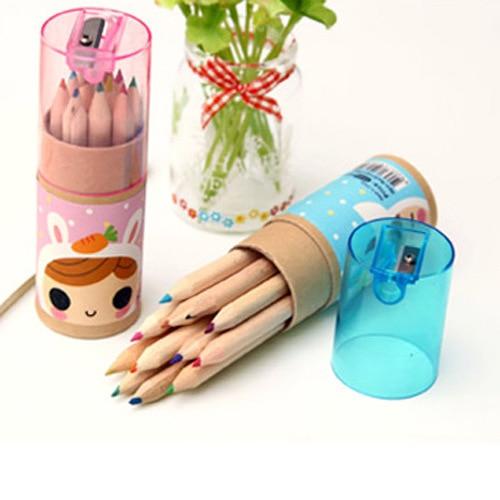 12 цветов/набор, канцелярские товары из Южной Кореи, милые детские акварельные ручки с маленькими знаками, карандаш для раскрашивания предме...