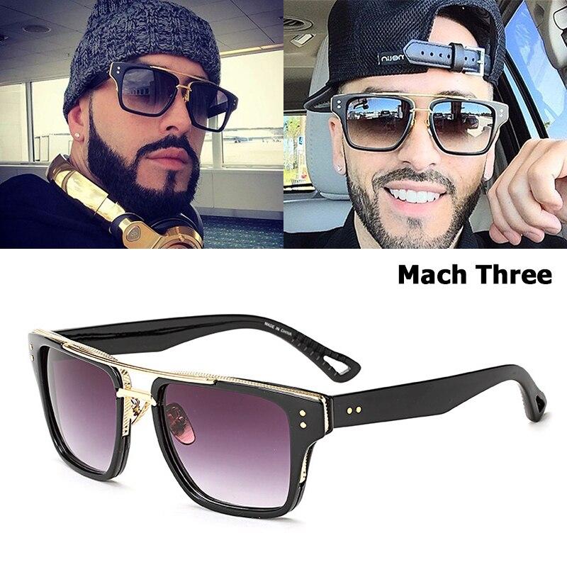 aac867ead6c JackJad 2017 Fashion Men Women Mach Three Sunglasses Brand Design Square  Frame Vintage Retro Luxury Sun