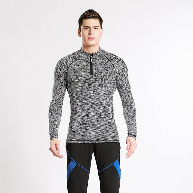 b689f3db589db Tienda Online Camiseta de entrenamiento con cremallera para hombre ...