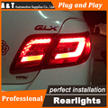 A&T car  LED Tail Lamp for Toyota Camry Tail Lamps 2006-2009 rear trunk lamp cover drl+signal+brake+reverse led lights