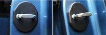 Для Mazda CX-5 CX5 2017 2018 Пластик более моды черного замка двери автомобиля защитная крышка Пряжка Рамки крышка отделка 4 шт./компл.