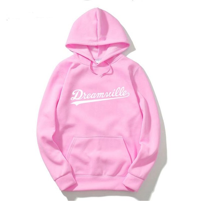 2017 New Dreamville Records Hoodies Sudaderas Hombre Men's Hooded Sweatshirt Black/gray Cotton Tracksuit Brand Clothing
