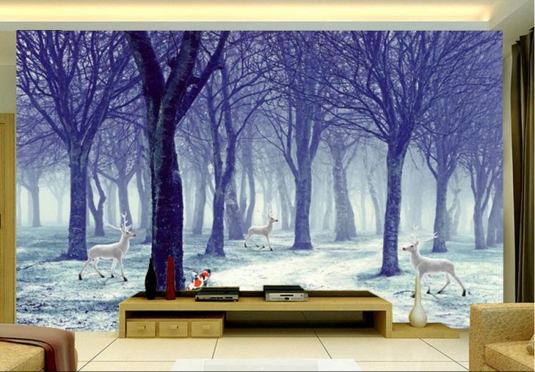 Wald wandmalereien kaufen billigwald wandmalereien partien aus ...