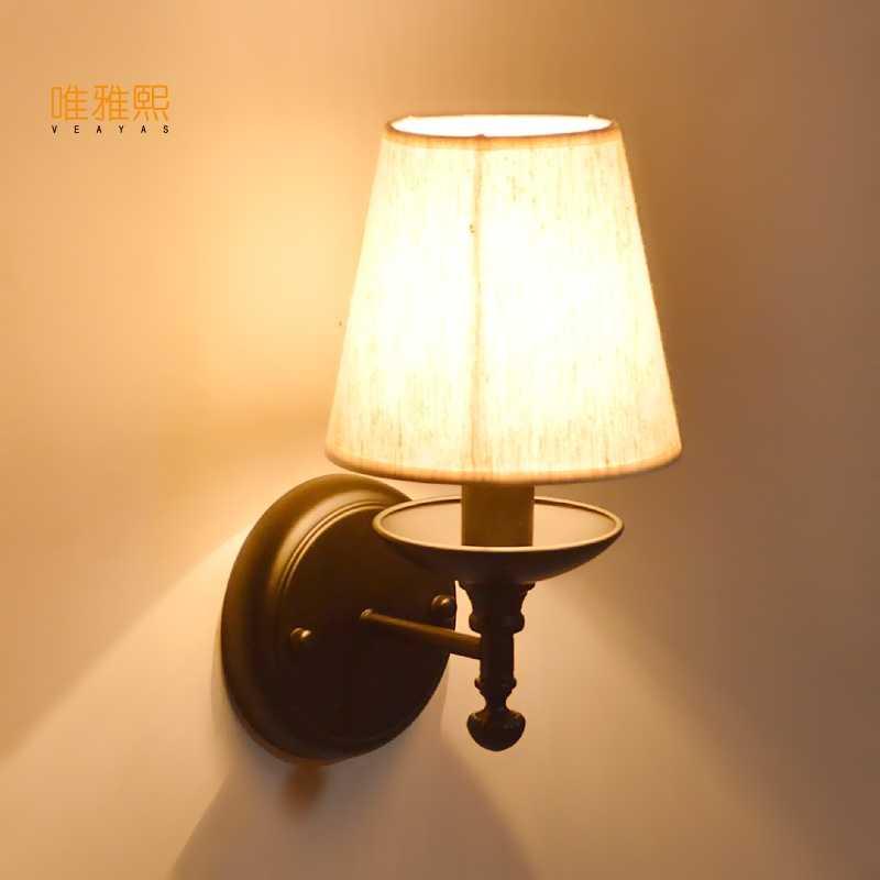 Veayas 110 v 220 v Led украшение современное искусство железная настенная лампа настенное освещение в помещении настенные бра с белым абажуром для спальни