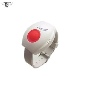 SOS Botão de emergência SOS Alarm Sem Fio Warterproof Desgaste Estilo do Relógio de Pulso Para O GSM Guarder Idoso EM-70 2 pcs
