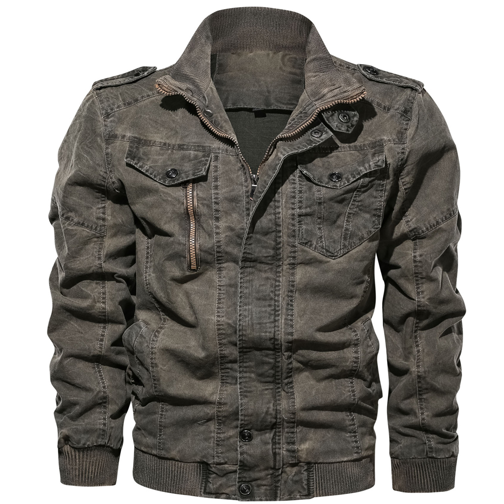 HTB1JMcbMgHqK1RjSZFgq6y7JXXay Mens Denim Jacket Big Size 6XL Military Tactical Jeans jacket Solid Casual Air Force Pilot Coat Casaco Masculino DropShipping