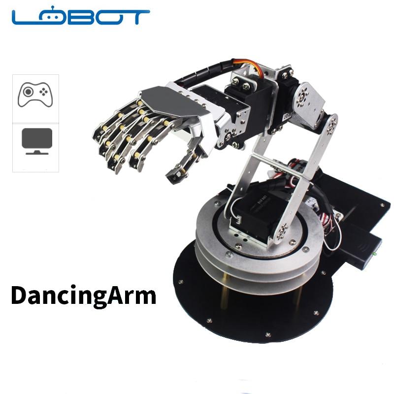 6 DOF Robot Arduino bras cinq doigts alliage danse main Kit avec télécommande humanoïde RC pièces Robot jouet