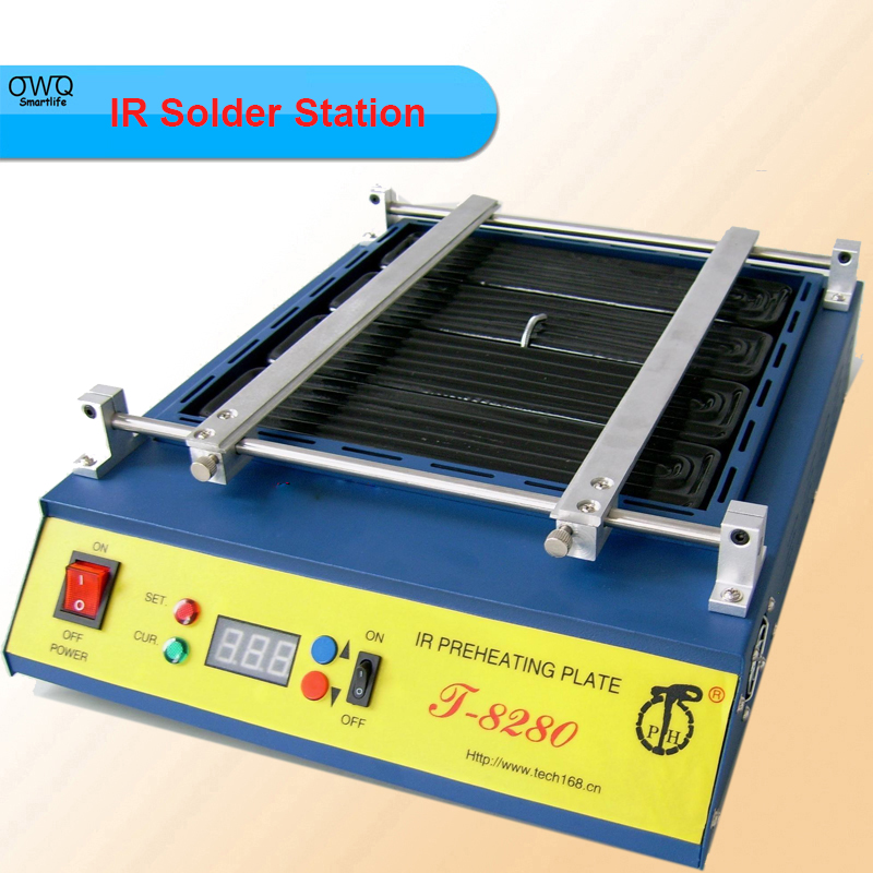 Hot Sell IR Solder Station 110V /220V Puhui T8280 PCB Preheater SMD Rework Station  цены