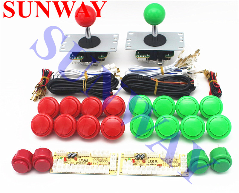 Free shipping 2Player Zero Delay DIY PC arcade game kits for Mame Fighting Games Joystick sanwa