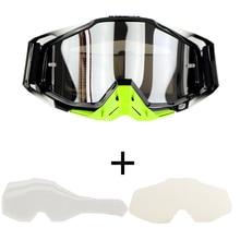 Топ продаж костюм 100% Пилотирование мотокросса оторвать flims прозрачные линзы BMX мотоциклов велосипедные очки YH06
