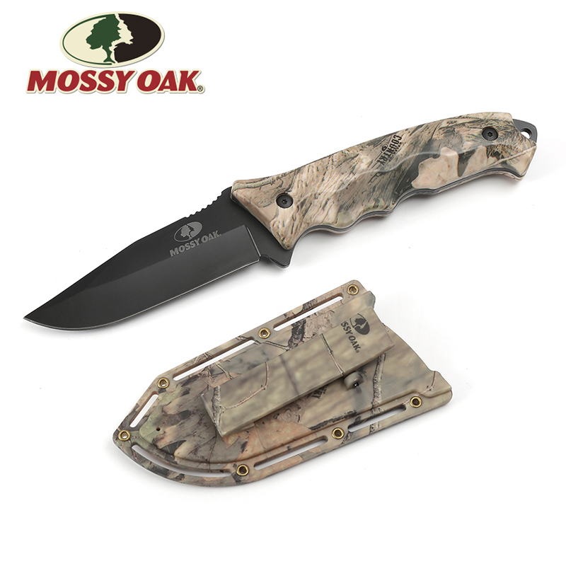 Mossy Oak 10 Fixed Blade Knife Outdoor Camping Knife Hunting Knives Camo Survival Emergency Knives Overall With ABS Sheath