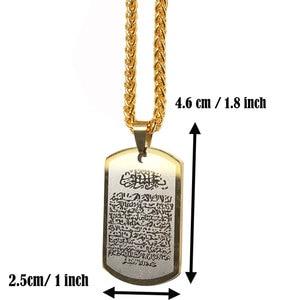 Image 2 - zkd islam muslim AYATUL KURSI stainless steel Pendant necklace