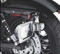 Aftermarket Бесплатная доставка мотоцикла Мотоцикл Череп сбоку крепление Кронштейн номерного знака w/светодиодный свет хромированный