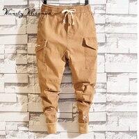 2019 Men Multi pocket Harem Pants Men Hip Pop Pants Trousers Streetwear Sweatpants Hombre Male Casual Fashion Cargo Pants Men