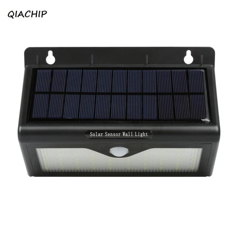 QIACHIP Waterproof 46 LED Solar light Bulb Outdoor Garden lamp Decoration PIR Motion Sensor Night Security Wall light H3
