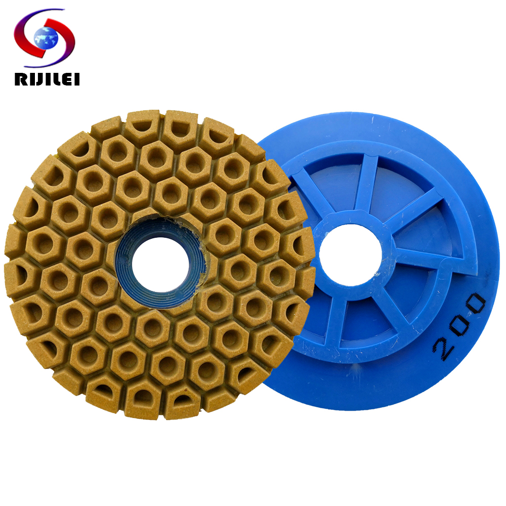 RIJILEI 5,6 Inch Snail Lock Edge Polishing Pad 125mm Edge Grinding Wheel Marble Polishing Pad Grinding Granite Concrete Stone
