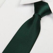 Мужской галстук черновато-зеленого цвета, 8 см, обтягивающий галстук, Повседневный, Джентльменский, corbatas, облегающий, дизайнерские, модные, официальные, вечерние lote