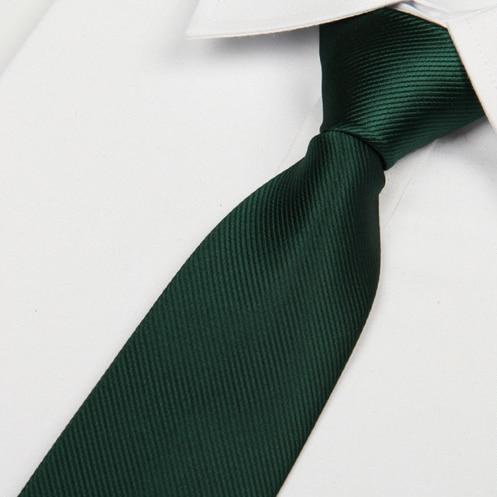 2016 მამაკაცის შავი ფერის მწვანე ფერის ჰალსტუხი 8 სმ საცურაო ნეკნი