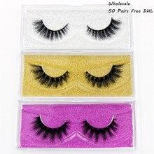 AMAOLASH 50 Pairs False Eyelashes 3D Mink Lashes High Volume Natural Mink Eyelashes Thick Fake Lashes Makeup 25 Styles DHL Free