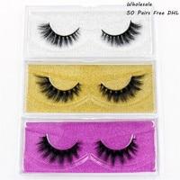 AMAOLASH Free DHL 50 Pairs False Eyelashes 3D Mink Lashes High Volume Natural Mink Eyelash Thick Makeup Fake Lashes 25styles