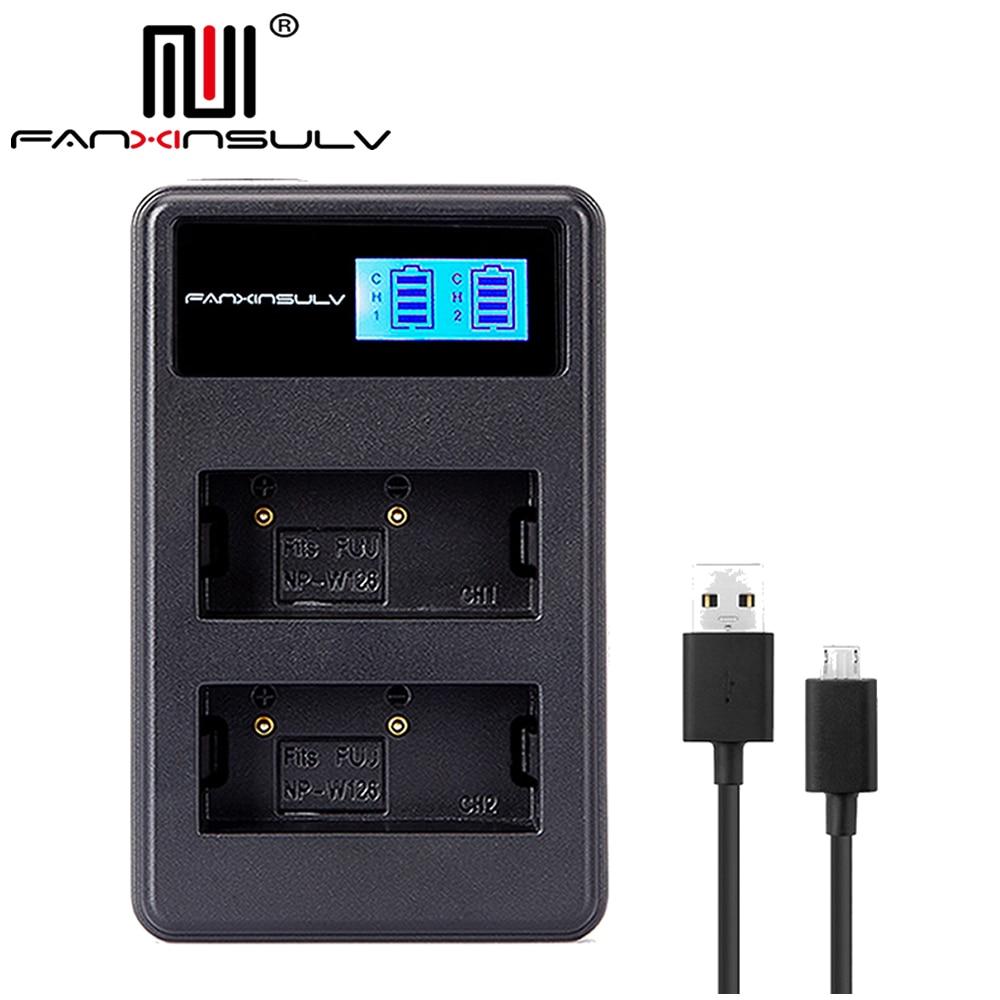 NP-W126S NP-W126 LCD USB Charger for Fujifil Fuji NP W126 Battery X-T3 XA5 XT20 XT2 XT1 XT100 XH1 XT10 XE3 X100F X-PRO2