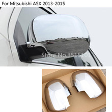Car styling ABS chrome back rear view Rearview Side Door Mirror Cover stick trim frame 2pcs
