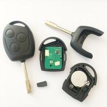 Для Ford Mondeo Fiesta Фокус Ка Транзитных 433 МГЦ + 4D63 Чип Дистанционного Ключа Fob & Blade