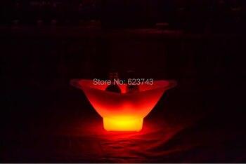 Çok renkli şarj edilebilir aydınlık LED Büyük külçe buz kovası şampanya bira içecek buzluk çanta tutucu çubukları araçları için parti