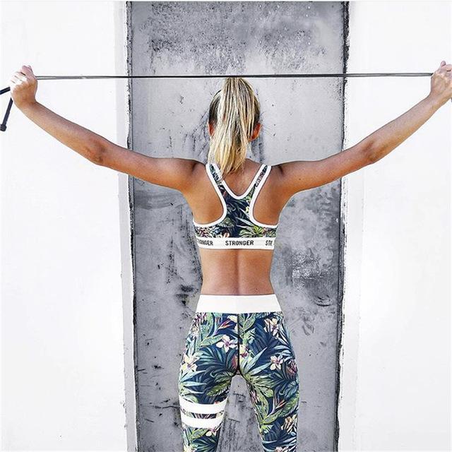 Women's Tropical Paradise Striped Yoga Leggings   3 Styles  S-XL