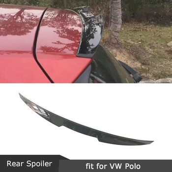 ABS Rear Roof Spoiler Windshield Trim Wings for Volkswagen VW Polo Standard 2011-2018 Not For GTI R Piano black Aprons Winglet
