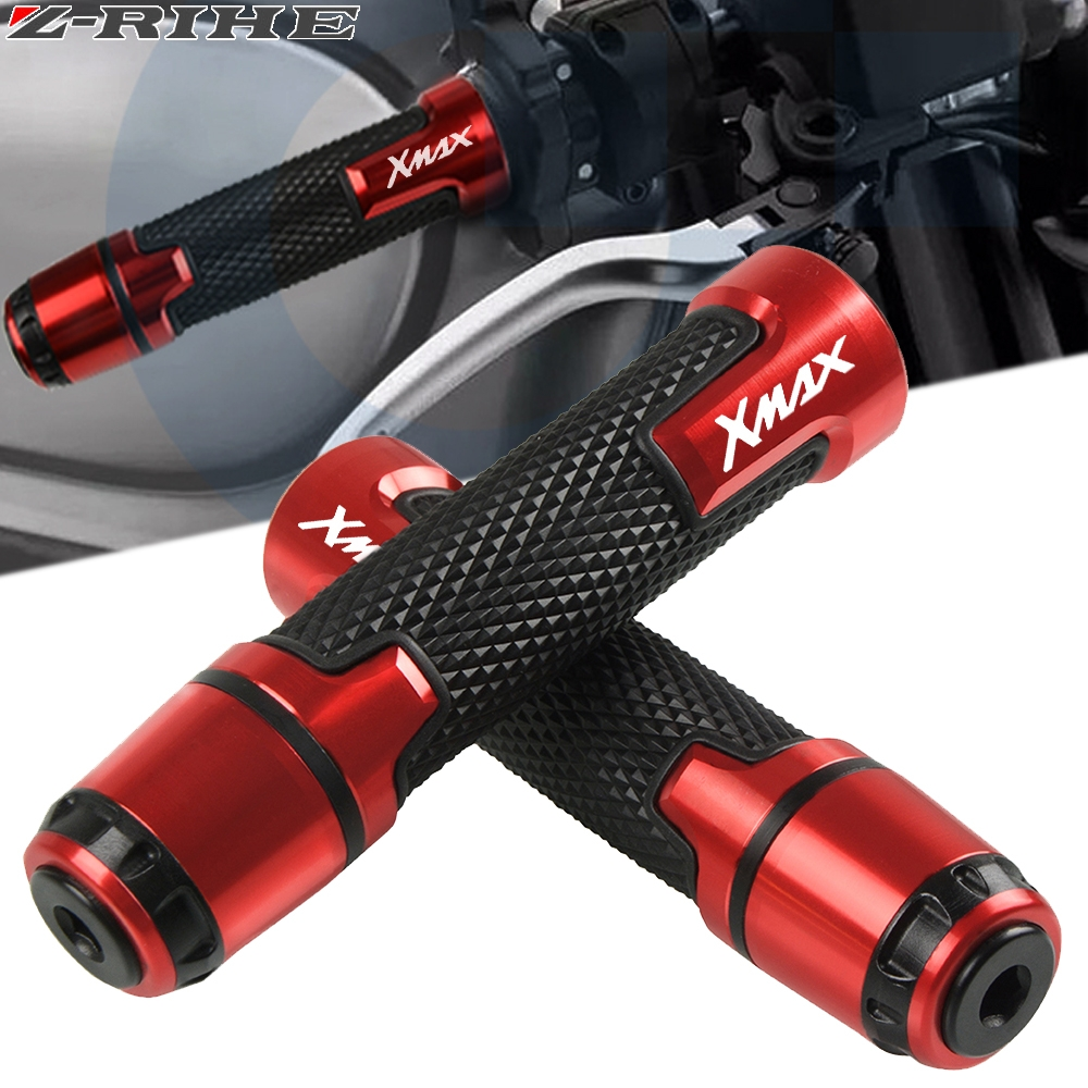 7/8'' For Yamaha Xmax 125 250 300 400 X MAX 2017 2018 Motorcycle Knobs Anti-Skid Scooter Handle Grips 22mm Bar Hand Handlebar