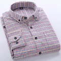 Spring Autumn 2016 Men's Long Sleeve Mini Multi Plaid Brushed Flannel Shirt Classic-fit Unelastic Button-down Man Casual Shirts