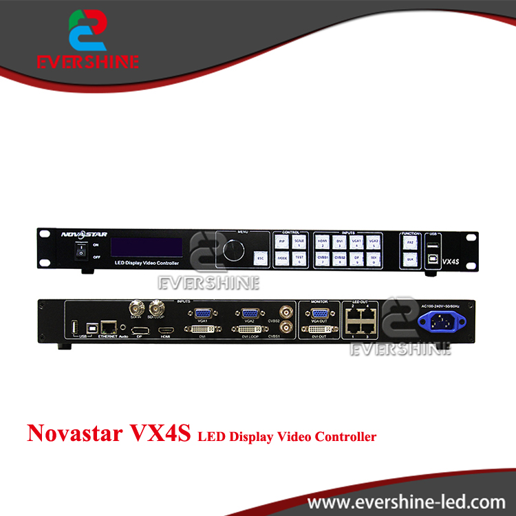 High quality NOVA VX4S all-in-1card, 2.3 million pixels,HDMI/DVI/VGA/CVBS/DP/3G-SDI input LED rental screen video controller futv406x hd ird 1 dvb s s2 t c isdb t rf input 1 asi ip in 2 asi 1 ip output hdmi sdi cvbs xlr out with mux biss