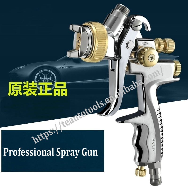 professional high quality car painting sprayer gun taiwan made spray gun forging gun body chrome air