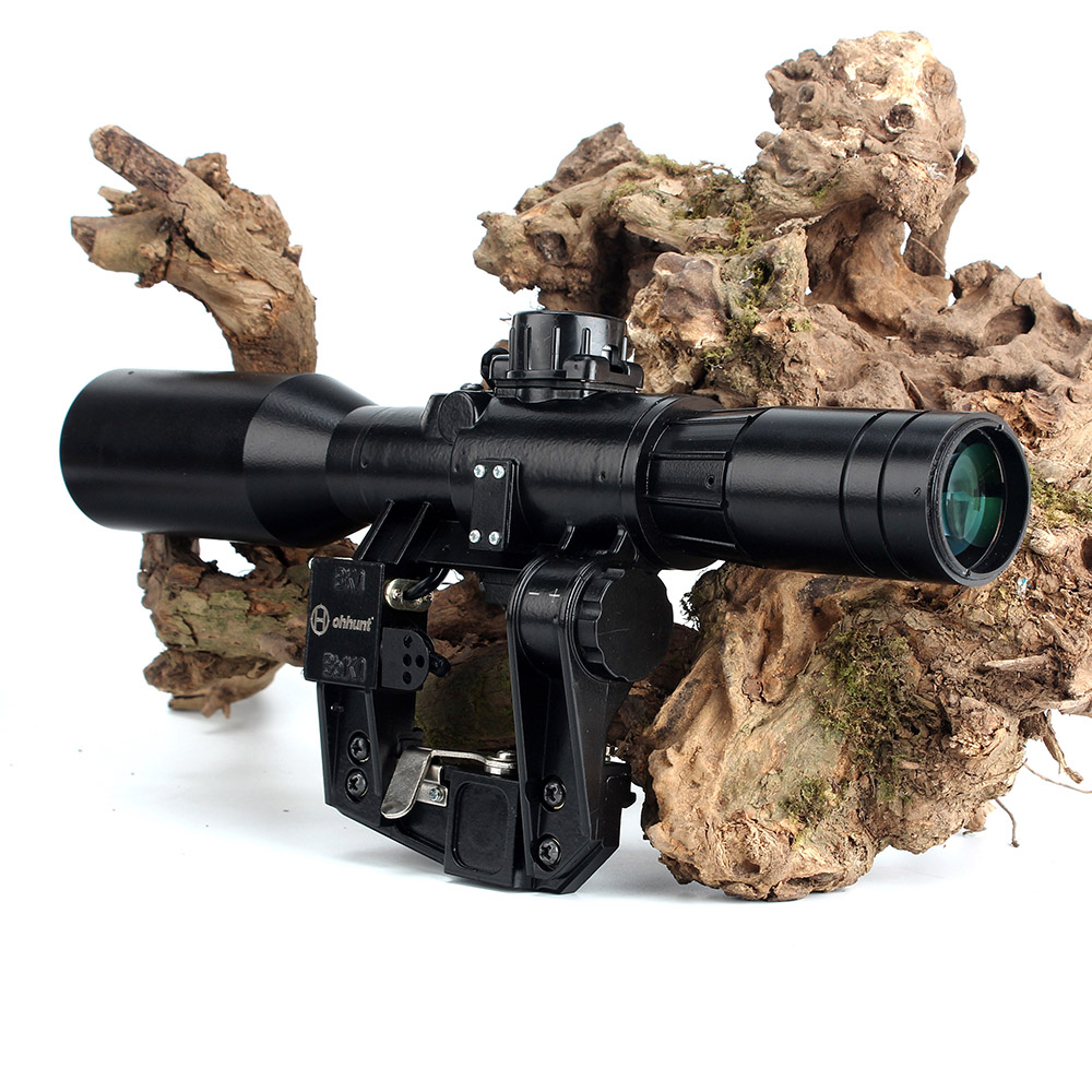Image 2 - Hunting SVD 6X42D Riflescope Red Illuminated Glass Etched Reticle POS 1 Sight Tactical Scopees Mount Fits SKS Tigr Romak 3-in Riflescopes from Sports & Entertainment