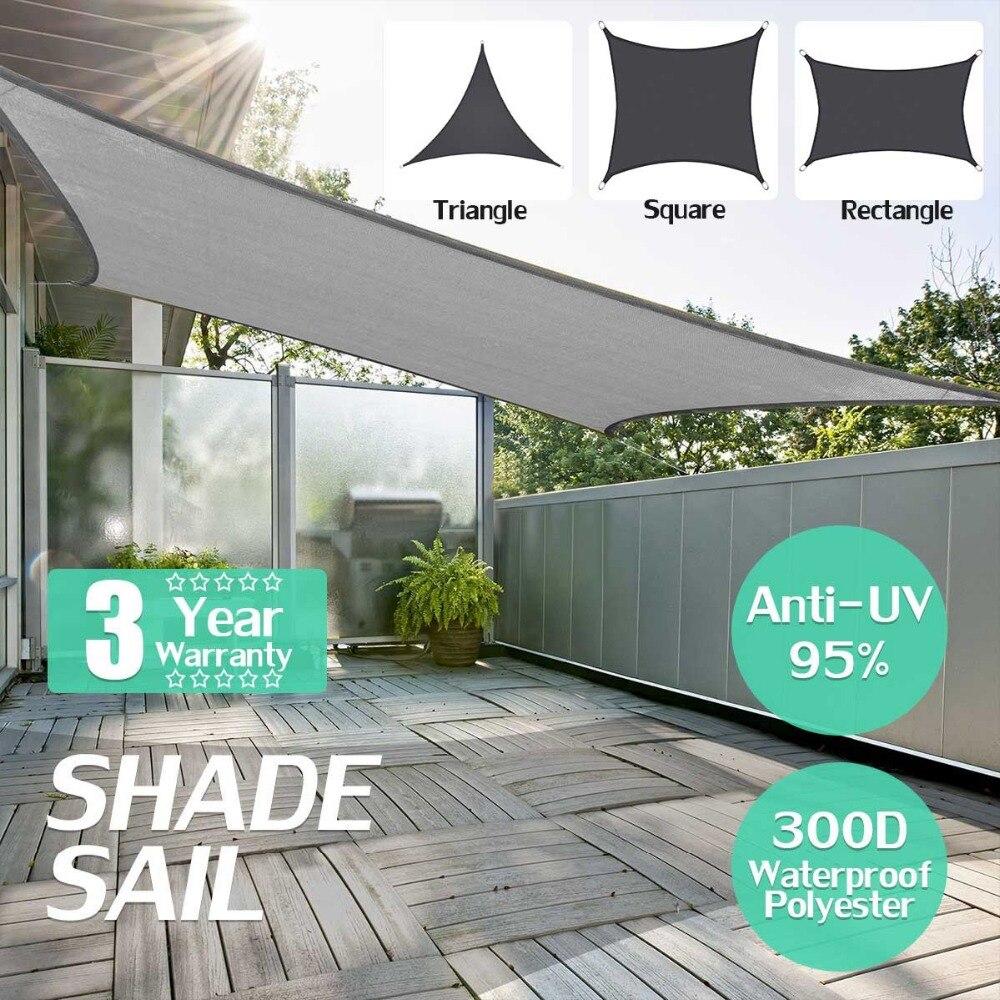 300D Étanche Polyester auvent Régulière Triangle Extra Heavy Duty Voile D'ombrage Soleil Soleil En Plein Air Abri pour jardin Camping tentes dans Abri du soleil de Sports et loisirs