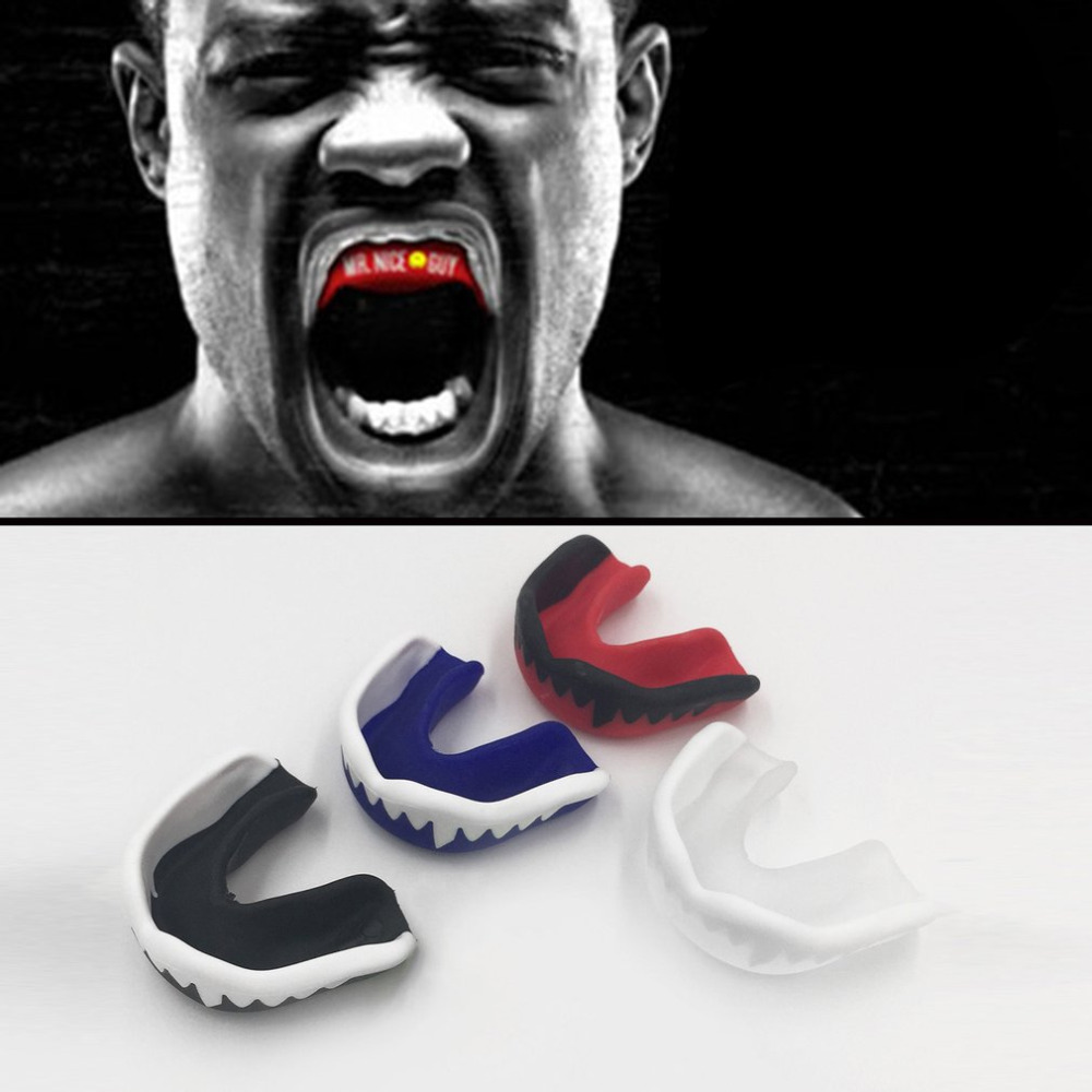 Professional Soft EVA Sport Football Basketball Thai Boxing Mouth Guard Adult Karate Muay Safety Mouth Protective Teeth Guard